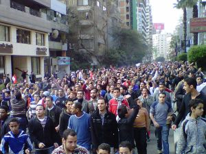 "Egyption People in the Streets to ""Petiton for a Redress of Grievences"""
